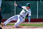 3 September 2018: Vermont Lake Monsters infielder Jonah Bride slides home safely in the first inning against the Tri-City ValleyCats at Centennial Field in Burlington, Vermont. The Lake Monsters defeated the ValleyCats 9-6 in the last game of the 2018 NY Penn League regular season. Mandatory Credit: Ed Wolfstein Photo *** RAW (NEF) Image File Available ***