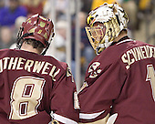 Brett Motherwell, Cory Schneider - The Boston College Eagles defeated the University of Maine Black Bears 4-1 in the Hockey East Semi-Final at the TD Banknorth Garden on Friday, March 17, 2006.