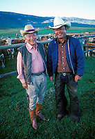 Former head cowboys at Parker Ranch, Yutaka Kimura with son Charlie, Waimea, Big Island