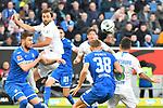 15.02.2020, PreZero-Arena, Sinsheim, GER, 1. FBL, TSG 1899 Hoffenheim vs. VFL Wolfsburg, <br /> <br /> DFL REGULATIONS PROHIBIT ANY USE OF PHOTOGRAPHS AS IMAGE SEQUENCES AND/OR QUASI-VIDEO.<br /> <br /> im Bild: Admir Mehmedi (#14, VfL Wolfsburg) gegen Ermin Bicakcic (TSG Hoffenheim #4)<br /> <br /> Foto © nordphoto / Fabisch