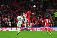 Chris Mepham of Wales in action during the UEFA Euro 2020 Qualifier match between Wales and Azerbaijan at the Cardiff City Stadium in Cardiff, Wales, UK. Friday 06, September 2019