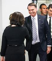 BRASILIA, DF, 20.11.2018 - BOLSONARO-PGR-   O presidente eleito, Jair Bolsonaro, durante encontro com a procuradora-geral da República, Raquel Dodge, nesta terça, 20.(Foto:Ed Ferreira / Brazil Photo Press)