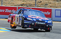 Jun. 21, 2009; Sonoma, CA, USA; NASCAR Sprint Cup Series driver Brian Vickers during the SaveMart 350 at Infineon Raceway. Mandatory Credit: Mark J. Rebilas-