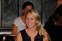 Nice le 15 Juillet 2016 Promenade des Anglais le lieu de l attentat perpÈtrer hier soir juste apres le feu d artifice du 14 Juillet dans la Cathedrale Sainte Reparate Vieux Nice Pour la Messe en homages aux victimes Marion Marechal le Pen