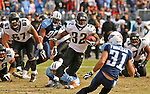 Tennessee Titans quarterback Vince Young (10)  against the Jacksonville Jaguars at LP Field in Nashville, Tennessee on November 11, 2007. The Jaguars defeated the Titans 28-13. (UPI Photo/Frederick Breedon IV)