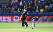Jun 6th, The SSE SWALEC, Cardiff, Wales; ICC Champions Trophy; England versus New Zealand; Ross Taylor of New Zealand plays the ball legside