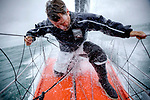 Onboard the IMOCA Open 60 Alex Thomson Racing Hugo Boss during a training session before the VendÈe Globe..The VendÈe Globe is a round-the-world single-handed yacht race, sailed non-stop and without assistance.