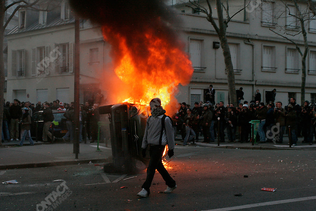 Anti-CPE law demonstration, Paris, France, March 18, 2006