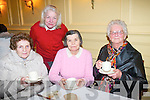 At the Recovery Haven coffee morning at the Arbutus Hotel were: .L-R Sally O'Shea, Hannah Mary Lyne, Kathleen O'Shea and Bridie O'Carroll.