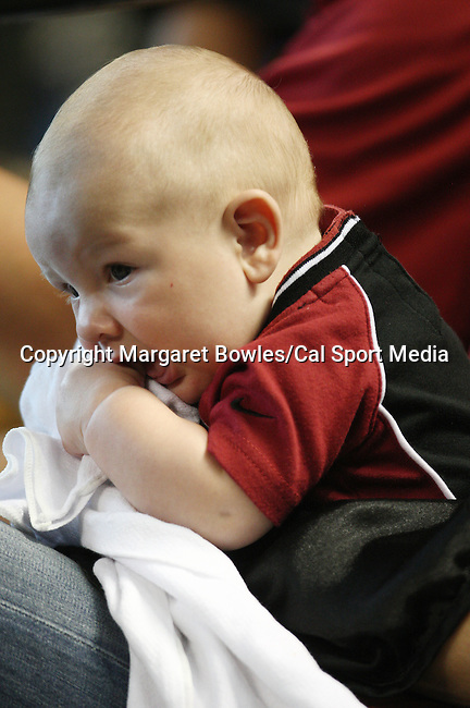 July 8, 2009:  A tiny Houston Astros fan keeps an eye on the action. The Houston Astros defeated the Pittsburg Pirates 5-0 at Minute Maid Park in Houston, Texas. Margaret Bowles/CSM