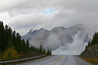 Storm clouds along the Icefield Parkway in Canada