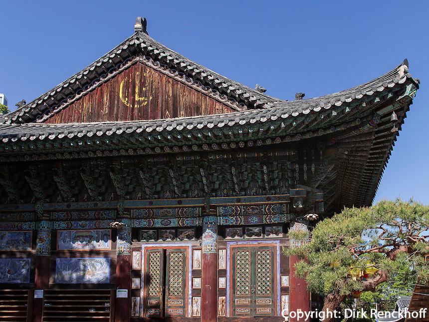 buddh. Tempel Bonyeun-sa in Gangnam, Seoul, S&uuml;dkorea, Asien<br /> buddhistic temple Bonyeun-sa in Gangnam, Seoul, South Korea, Asia