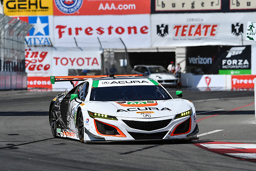 2017 IMSA WeatherTech SportsCar Championship<br /> BUBBA burger Sports Car Grand Prix at Long Beach<br /> Streets of Long Beach, CA USA<br /> Saturday 8 April 2017<br /> 93, Acura, Acura NSX, GTD, Andy Lally, Katherine Legge<br /> World Copyright: Richard Dole/LAT Images<br /> ref: Digital Image RD_LB17_378