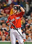 8 June 2012: Boston Red Sox infielder Will Middlebrooks in action against the Washington Nationals at Fenway Park in Boston, MA. The Nationals defeated the Red Sox 7-4 in the opening game of their 3-game series. Mandatory Credit: Ed Wolfstein Photo