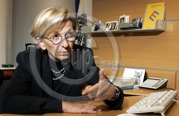 BRUSSELS - BELGIUM - 18 JANUARY 2005 --MEP Emma BONINO (ALDE/Italy), Group of the Alliance of Liberals and Democrats for Europe, during an interview in her office. --  PHOTO: JUHA ROININEN / EUP-IMAGES
