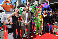"Halsey, Khary Payton, Scott Melville, Greg Cipes, Hynden Walch, Tara Strong  & Kristen Bell at the premiere for ""Teen Titans Go! to the Movies"" at the TCL Chinese Theatre, Los Angeles, USA 22 July 2018<br /> Picture: Paul Smith/Featureflash/SilverHub 0208 004 5359 sales@silverhubmedia.com"
