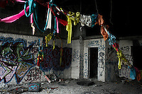 Clothes' rags are seen inside of a abandoned house in Detroit, the city has more than 16 months of filing for bankruptcy.  10.24.2014. Teddy Blackburn /VIEWpress