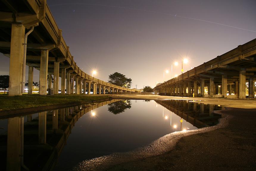 101 Freeway at night in San Francisco, Calif.