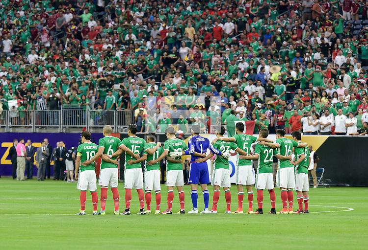 Houston, TX - Monday June 13, 2016: Mexico  during a Copa America Centenario Group C match between Mexico (MEX) and Venezuela (VEN) at NRG Stadium.