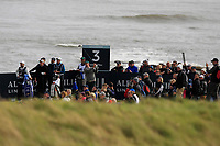 Justin Rose (ENG) on the 3rd tee during Round 2 of the Alfred Dunhill Links Championship 2019 at Kingbarns Golf CLub, Fife, Scotland. 27/09/2019.<br /> Picture Thos Caffrey / Golffile.ie<br /> <br /> All photo usage must carry mandatory copyright credit (© Golffile | Thos Caffrey)