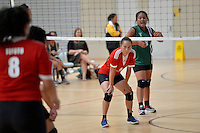 Action from the CSW - Volleyball Senior Tournament at ASB Sports Centre, Wellington, New Zealand on Friday 28 February 2014.<br /> Photo by Masanori Udagawa.<br /> www.photowellington.photoshelter.com.