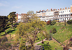 Seafront buildings of Royal Terrace and cliff gardens, Southend, Essex