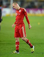 FUSSBALL   1. BUNDESLIGA   SAISON 2011/2012   30. SPIELTAG Borussia Dortmund - FC Bayern Muenchen            11.04.2012 Arjen Robben (FC Bayern Muenchen) ist nach dem Abpfiff enttaeuscht