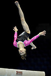 10.7.2011 The Womens Artistic British Championships  from the Echo Arena in Liverpool. Charlie Fellows on beam during the Junior Final