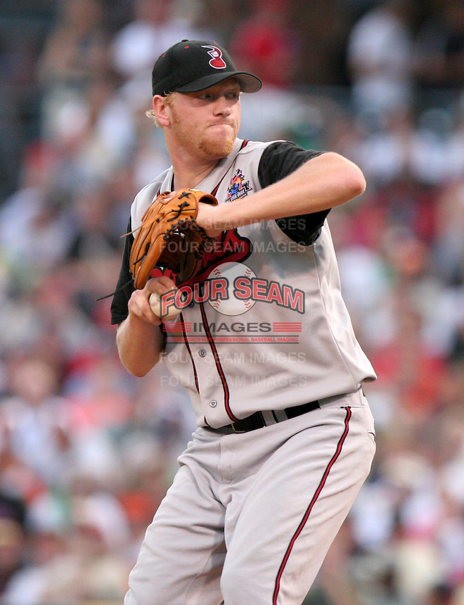 Nashville Sounds pitcher Ben Hendrickson during the Triple-A All-Star Game at Fifth Third Field on July 12, 2006 in Toledo, Ohio.  (Mike Janes/Four Seam Images)