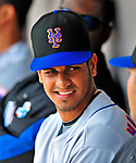 4 March 2009: New York Mets' outfielder Fernando Martinez chats in the dugout during a Spring Training game against the Washington Nationals at Space Coast Stadium in Viera, Florida. The Nationals rallied to defeat the Mets 6-4 . Mandatory Photo Credit: Ed Wolfstein Photo