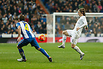 Real Madrid´s Luka Modric during 2015/16 La Liga match between Real Madrid and Espanyol at Santiago Bernabeu stadium in Madrid, Spain. January 31, 2016. (ALTERPHOTOS/Victor Blanco)