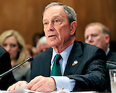 """Mayor Michael R. Bloomberg of New York testifies at the United States Senate Committee on Homeland Security and Governmental Affairs hearing on """"Terrorists and Guns: The Nature of the Threat and Proposed Reforms"""" in Washington, D.C. on Wednesday, May 5, 2010..Credit: Ron Sachs / CNP.(RESTRICTION: NO New York or New Jersey Newspapers or newspapers within a 75 mile radius of New York City)"""