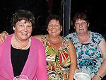 Karen Casey, Maureen Hughes and Rose Dooley pictured at John Wallace's 30th birthday in Brú. Photo: www.pressphotos.ie