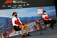 16th July 2020, Hungaroring, Budapest, Hungary; F1 Grand Prix of Hungary, drivers arrival and track inspection day;  99 Antonio Giovinazzi ITA, Alfa Romeo Racing ORLEN, 7 Kimi Raikkonen FIN, Alfa Romeo Racing ORLEN