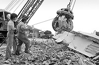 - Friuli, due mesi dopo il terremoto del maggio 1976, stabilimento delle fonderie Pittini<br /> <br /> - Friuli, two months after the earthquake of May 1976, plant of the Pittini foundries