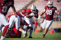 STANFORD, CA - October 26, 2019: Stanford football defeats Arizona 41-31 at Stanford Stadium.