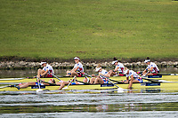 Sarasota. Florida USA.  GBR W4X and USA W4x after the final.. 2017 World Rowing Championships, Nathan Benderson Park<br /> <br /> Saturday  30.09.17   <br /> <br /> [Mandatory Credit. Peter SPURRIER/Intersport Images].<br /> <br /> <br /> NIKON CORPORATION -  NIKON D4S  lens  VR 500mm f/4G IF-ED mm. 200 ISO 1/1250/sec. f 4