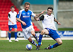 St Johnstone v Inverness Caley Thistle.....27.04.13      SPL.Ross Draper fouls Rowan Vine.Picture by Graeme Hart..Copyright Perthshire Picture Agency.Tel: 01738 623350  Mobile: 07990 594431