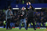 Derby County Manager, Frank Lampard, applauds the Chelsea fans at the end of the match during Chelsea vs Derby County, Caraboa Cup Football at Stamford Bridge on 31st October 2018