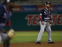 Walter Ibarra, durante el juego de beisbol de segunda vuelta de la Liga Mexicana del Pacifico. Segundo partido entre Charros de Jalisco vs Naranjeros de Hermosillo. 16 Diciembre 2017.<br /> (Foto: Luis Gutierrez /NortePhoto.com)