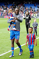 Christian Benteke of Crystal Palace and family during the EPL - Premier League match between Crystal Palace and West Bromwich Albion at Selhurst Park, London, England on 13 May 2018. Photo by Carlton Myrie / PRiME Media Images.
