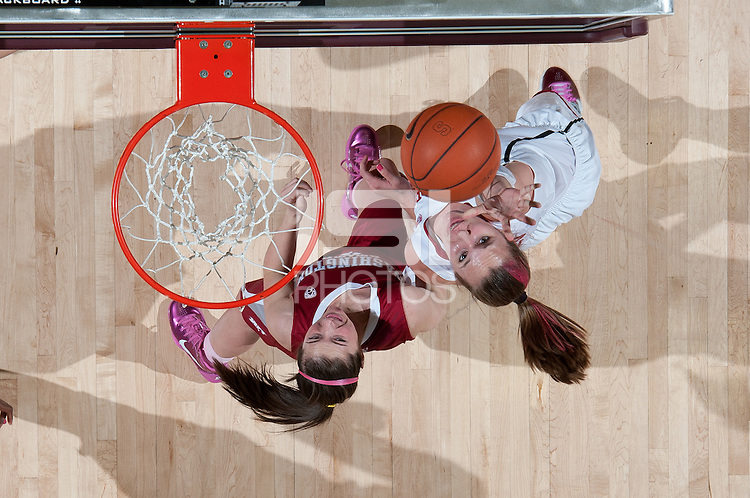 STANFORD, CA - February  10, 2011: Stanford Cardinal's Kayla Pedersen during the Stanford 100-59 win over Washington State at Maples Pavilion in Stanford, California.