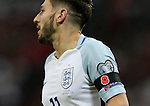 Adam Lallana with a poppy armband during the FIFA World Cup Qualifying Group F match at Wembley Stadium, London. Picture date: November 11th, 2016. Pic David Klein/Sportimage