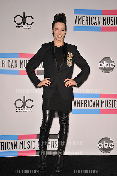 Johnny Weir at the 2010 American Music Awards at the Nokia Theatre L.A. Live in downtown Los Angeles..November 21, 2010  Los Angeles, CA.Picture: Paul Smith / Featureflash