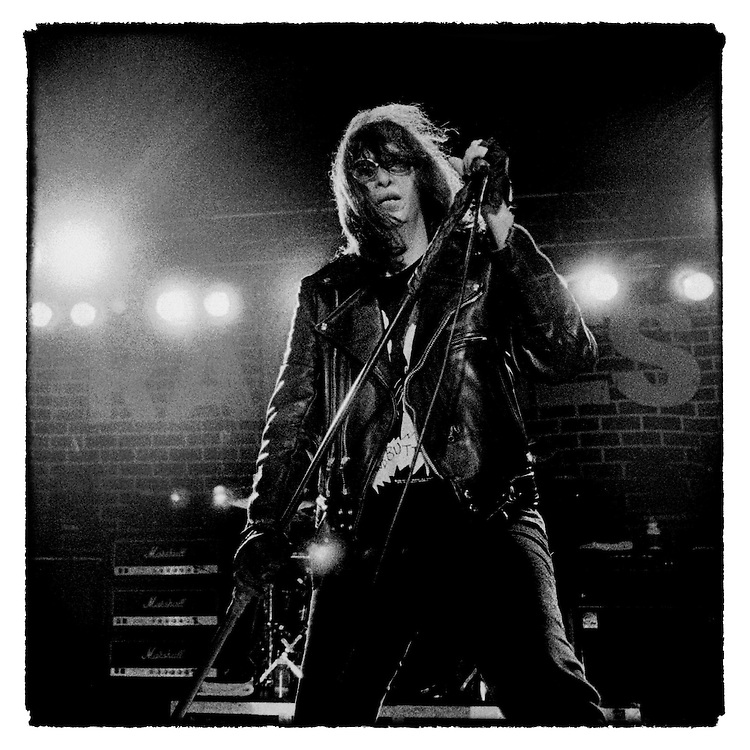The Ramones' Joey Ramone pictured during their Adios Amigos tour in 1995
