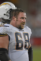 Aug 25, 2007; Glendale, AZ, USA; San Diego Chargers guard Kris Dielman (68) against the Arizona Cardinals at University of Phoenix Stadium. San Diego defeated Arizona 33-31. Mandatory Credit: Mark J. Rebilas-US PRESSWIRE