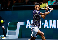 Rotterdam, The Netherlands, 11 Februari 2020, ABNAMRO World Tennis Tournament, Ahoy, <br /> Felix Auger-Aliassime (CAN), Jan-Lennard Struff (GER).<br /> Photo: www.tennisimages.com