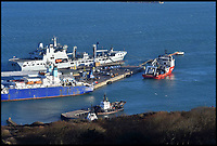 BNPS.co.uk (01202 558833)<br /> Pic: GrahamHunt/BNPS<br /> <br /> The survey vessel Geo Ocean III coming in to Portland Port this morning in Dorset to land a body from the Emiliano Sala plane wreck.