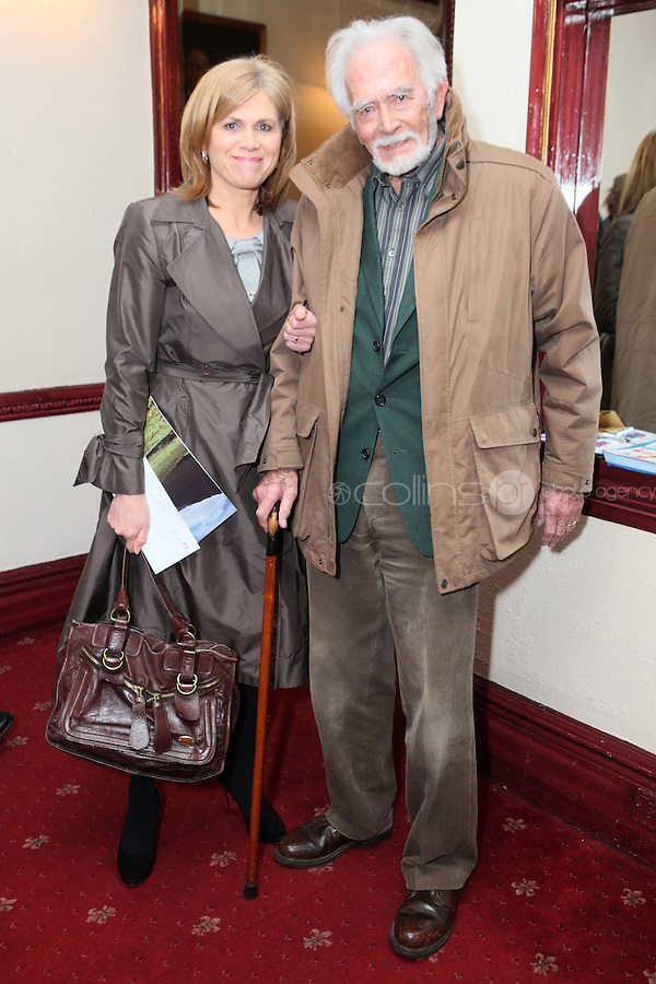 """NO REPRO FEE. 17/1/2010. The Field opening night. Ann and Barry Cassin are pictured at the Olympia Theatre for the opening night of John B Keanes 'The Field"""" Picture James Horan/Collins"""