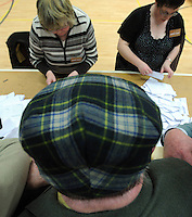 The hat will never be seen again&hellip;. <br /> SOUTH KERRY 26-2-2011: Jackie Healy-Rae keeps an eye on how his son Michael is getting on at the South Kerry count centre in the Killarney Sports Arena on Saturday.<br /> Picture by Don MacMonagle Pictures to illustrate that jackie Healy-Rae died on December 5th 2014